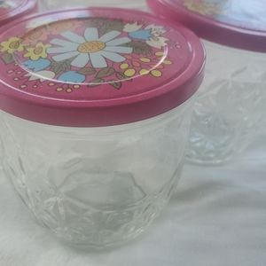 Vintage Kitchen - Vintage Quilted Jelly Jars